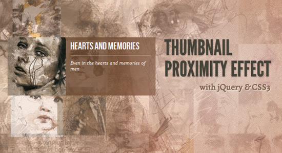 Thumbnail Proximity Effect with jQuery and CSS3