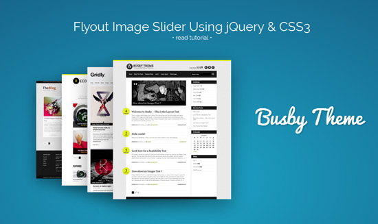 Flyout Image Slider Using jQuery & CSS3