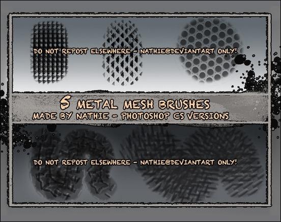 metal-mesh-texture-brushes