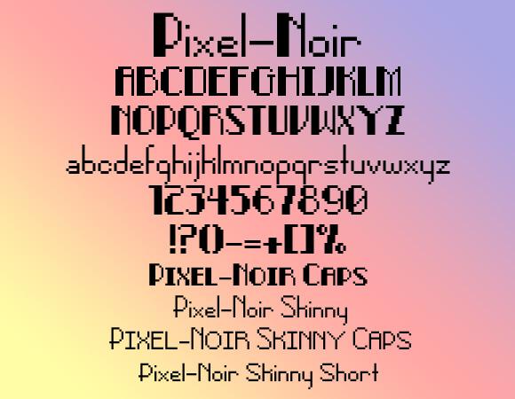 Pixel-Noir