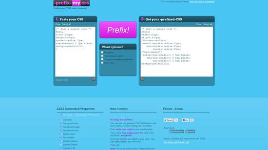 Prefix your CSS3 code