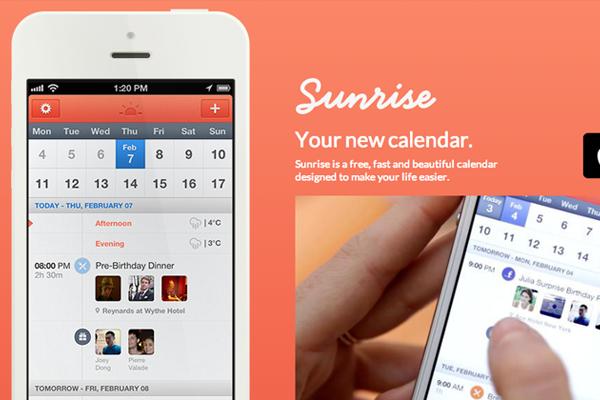 sunrise iphone mobile app interface ui