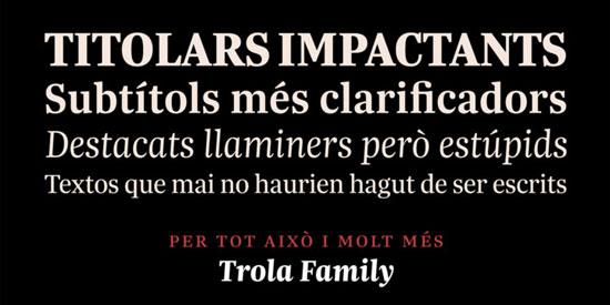 trola Premium Font