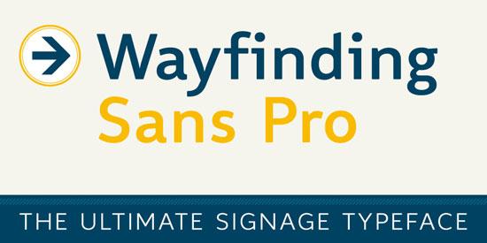 Wayfinding Sans Pro Premium Font