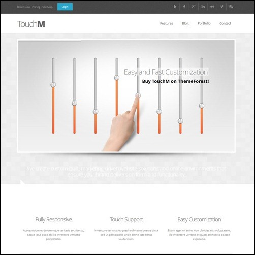 TouchM Business Website Template