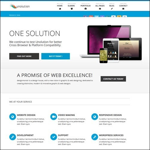 UNOLUTION business website template