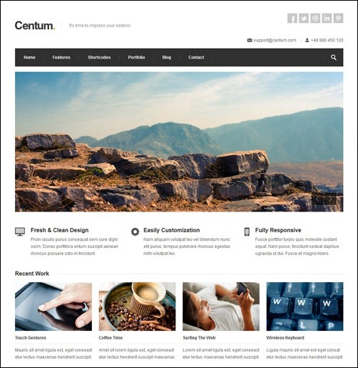 Centum  business website template
