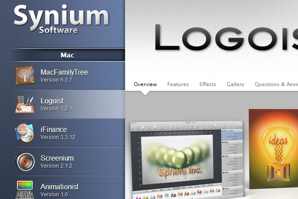 synium logoist logo design graphics mac osx app