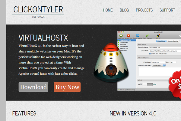 virtual host 2013 app mac osx