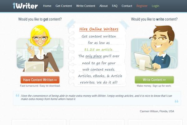 job board freelance writers interface inspiration