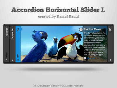 Accordion Horizontal Slider