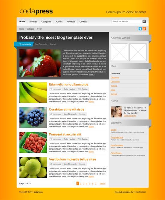 CodaPress html theme