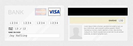 Credit card authorization form PSD sources