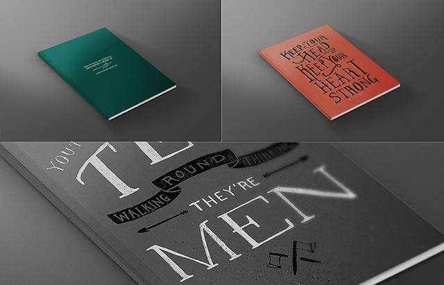 FREE Magazine Book Front Cover Mock-up Template