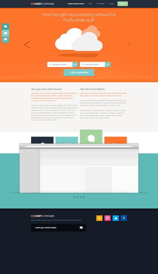 Free Hosting Web Design Free PSD