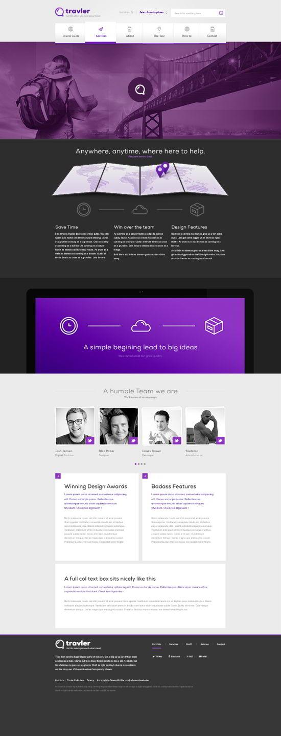 Free PSD Webdesign