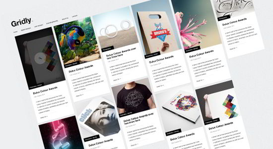 Gridly - Free PSD Blog Website