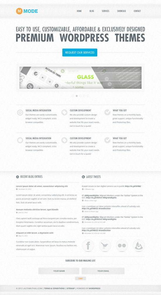 website design PSD