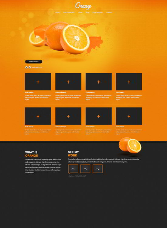 A free psd website template