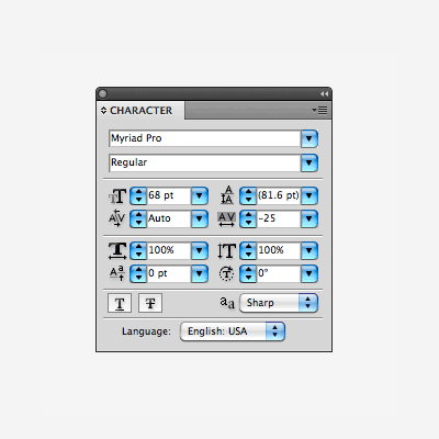 Quick Tip: The Character Panel in Adobe Illustrator
