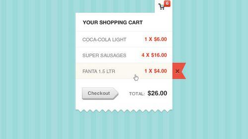 Shopping Cart Modal Window