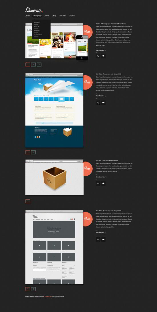 A Free Website PSD Template