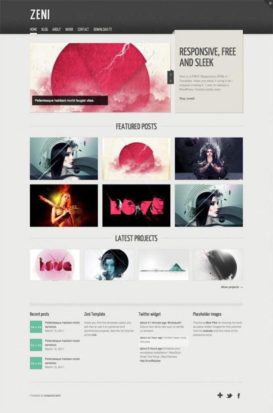cool html template