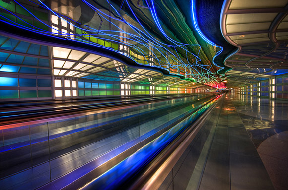 Psychadelic Tunnel at O'Hare