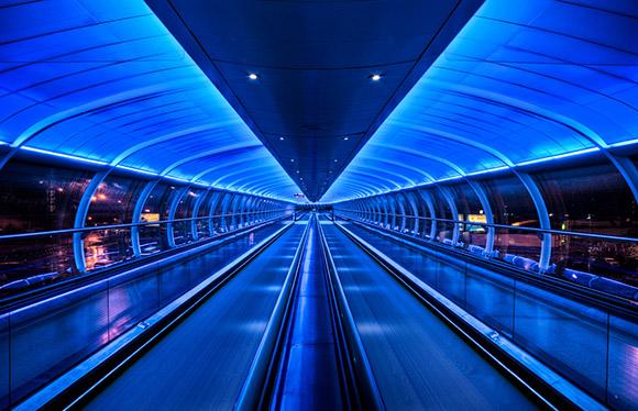 Walkway of blue hope