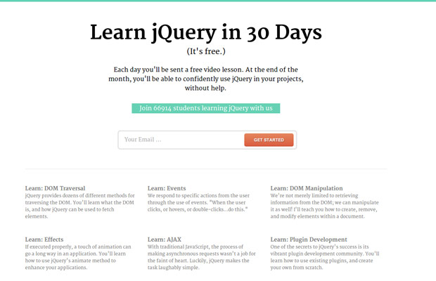 Learn jQuery in 30 Days