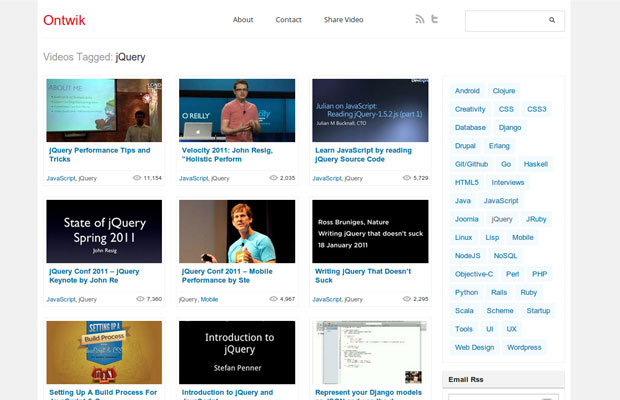 Ontwik jQuery Conference Videos
