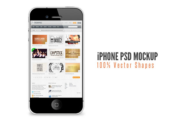 iphone free psd mockup