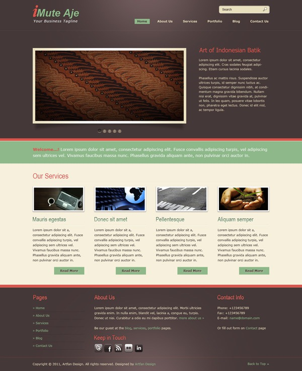 13. website psd template