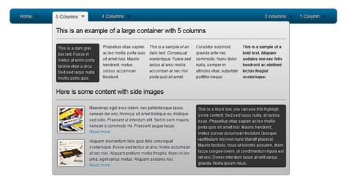 css3 html5 dropdown menu