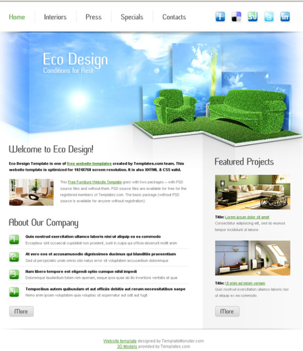 16. website psd template