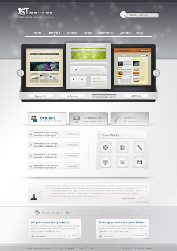 17. website psd template