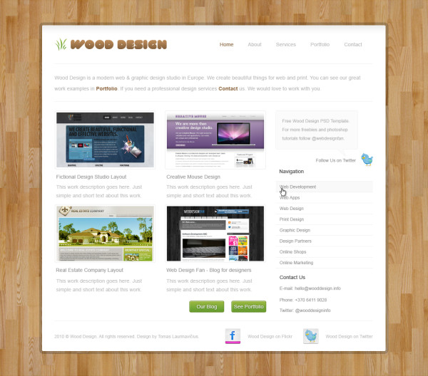 18. website psd template