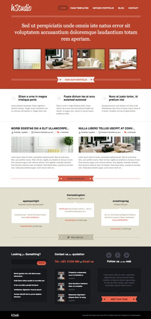 2. website psd template