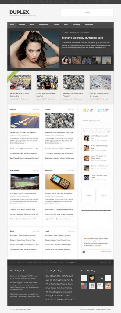 20. website psd template
