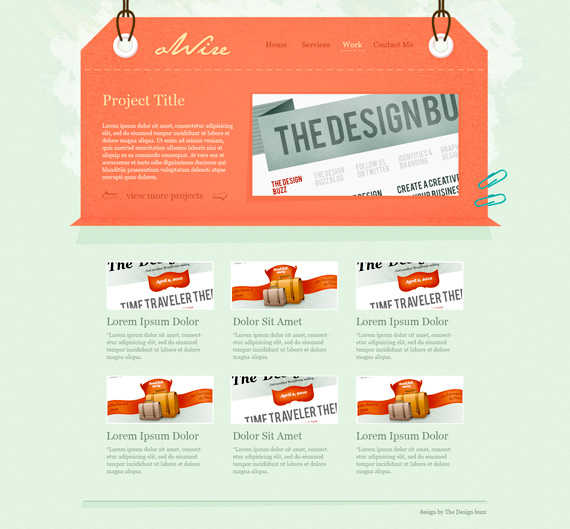 21. website psd template