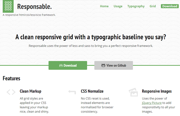 responsable website css gallery interface layout library