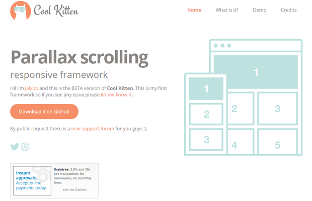 parallax responsive website jquery plugin open source coolkitten