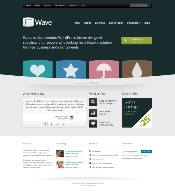 23. website psd template