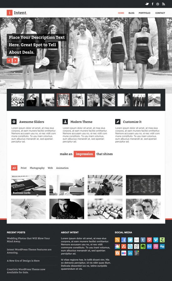 25. website psd template