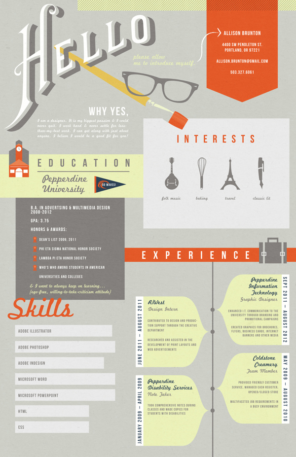 50 awesome resume designs that will bag the job