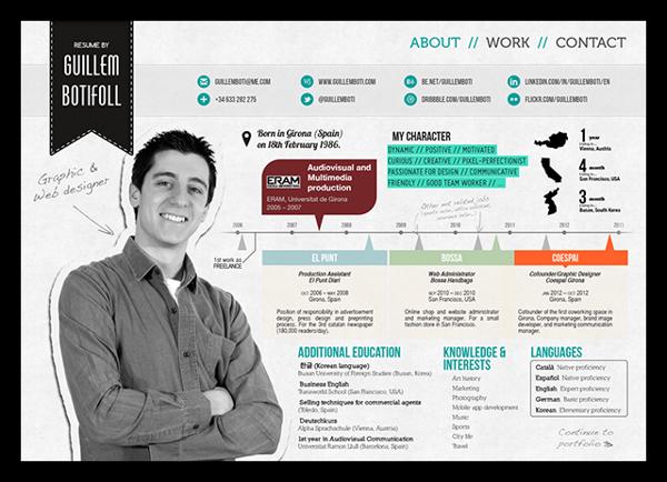 innovative resume templates