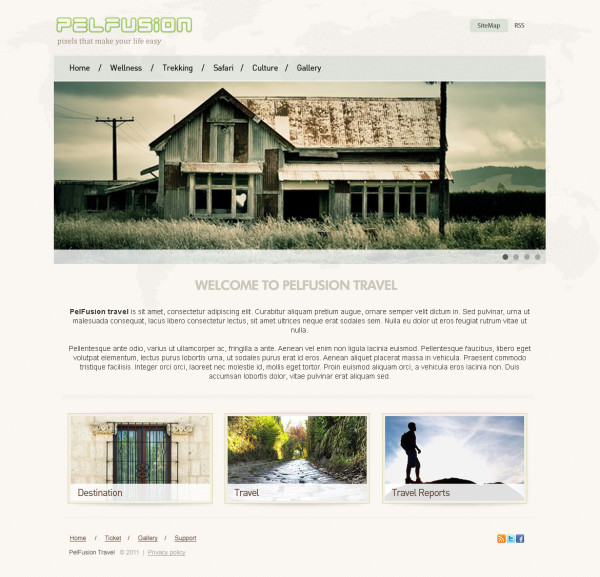 7. website psd template