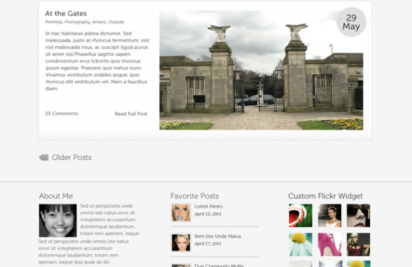 9. website psd template