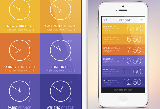 Time Zone App Concept by GraphicBurger