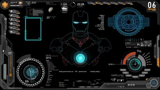 ironman sheild-os-desktop